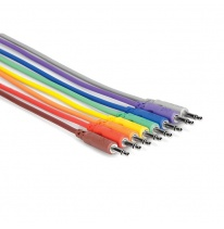 Hosa CMM-815 3.5 mm TS - 3.5 mm TS Unbalanced Patch Cables 0.15m (8 pcs.)