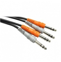 Hosa CSS-203 Dual 6.3mm TRS - Dual 6.3mm TRS Cable 3m