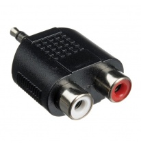 Hosa GRM-193 Dual RCA - 3.5mm TRS Adapter
