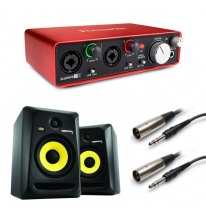 KRK Rokit RP6 G3 (Pair) + Focusrite Scarlett 2i2 (2nd Generation) Bundle