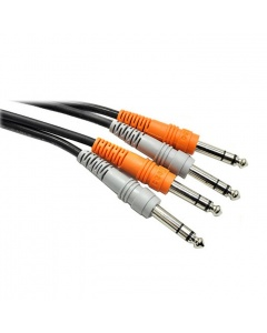Hosa CSS-202 Dual 6.3mm TRS - Dual 6.3mm TRS Cable 2m