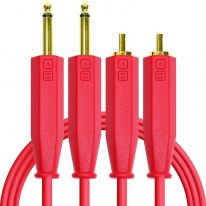 DJ Techtools Chroma Dual 6.3mm TRS - Dual RCA Cable 1.5m (Red)