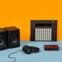 Ableton Push 2 + Focusrite Scarlett 2i2 3rd Gen + Audio Technica ATH-M40x + Presonus Eris E4.5 Bundle