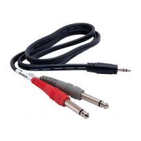 Hosa CMP-159 3.5mm TRS - Dual 6.3mm TS Y-Cable 3m