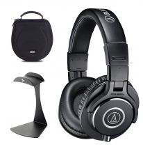 Audio Technica ATH-M40x + UDG Case + K&M Stand Bundle
