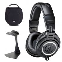 Audio Technica ATH-M50x + UDG Case + K&M Stand Bundle