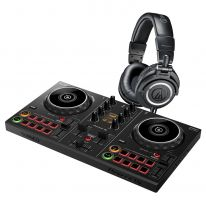 Pioneer DDJ-200 + Audio Technica ATH-M50x (Black) Bundle