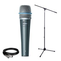 Shure Beta 57A + Stand + Cable Bundle